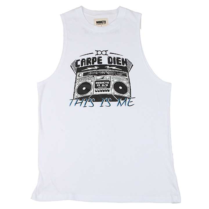 [모딕토]Graphic sleeveless_(White)