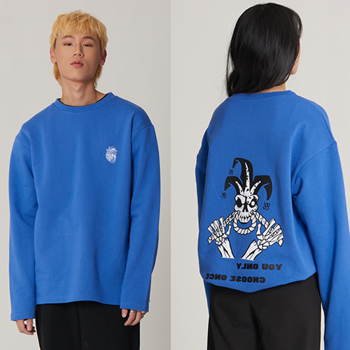 Panic Disorder Clown long Sleeve BLUE