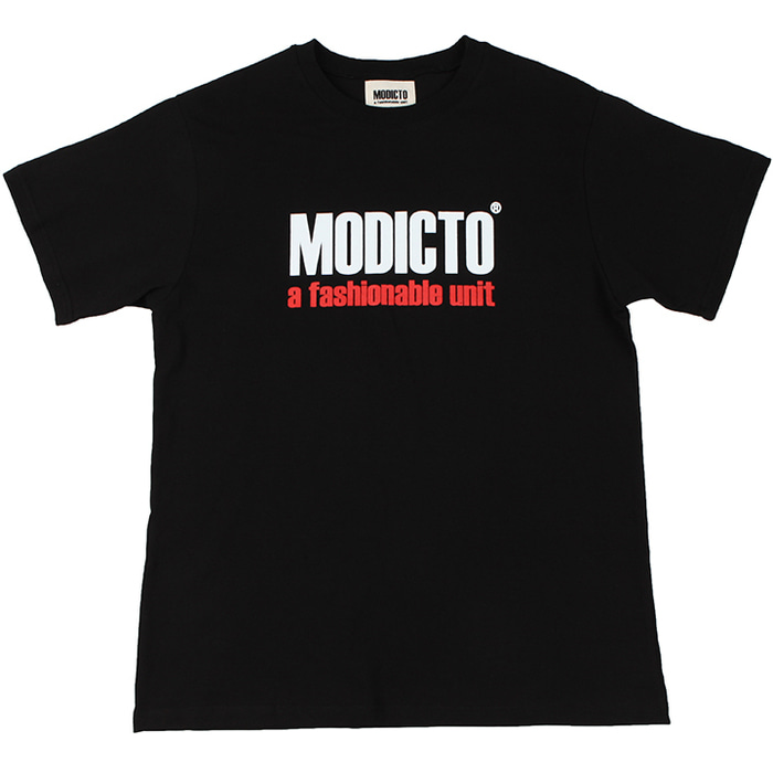 [모딕토]Basic Logo T-Shirts_(Black)