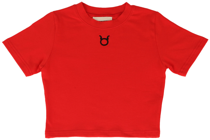 Logo Crop T-Shirts _ RED