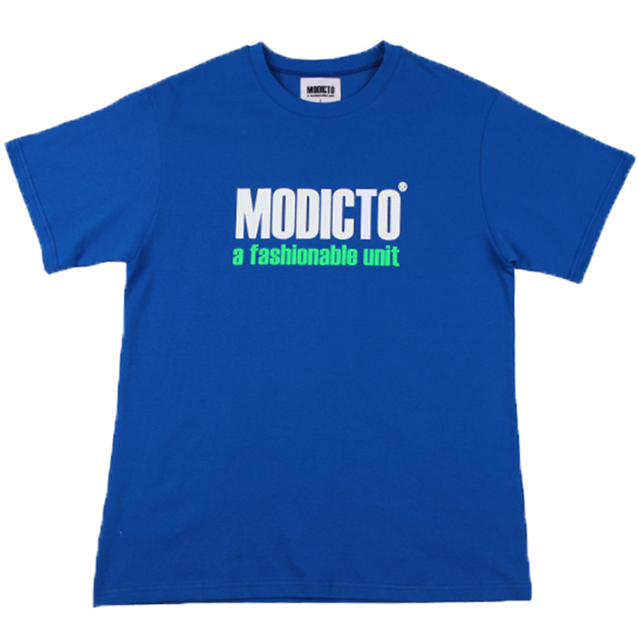 [모딕토]Basic Logo T-Shirts_(Cobalt Blue)