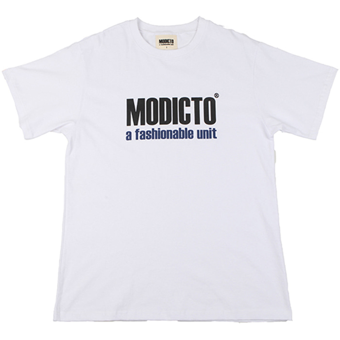 [모딕토]Basic Logo T-Shirts_(White)